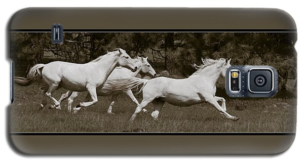 Galaxy S5 Case featuring the photograph And The Race Is On D5932 by Wes and Dotty Weber
