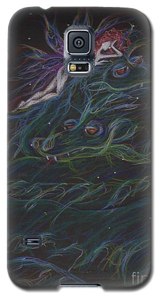 Galaxy S5 Case featuring the drawing And Then What Happened by Dawn Fairies