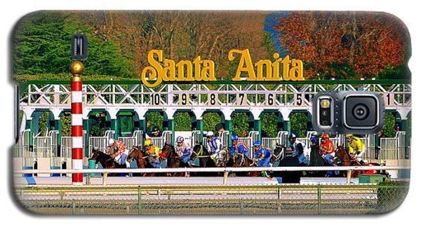 And They're Off At Santa Anita Galaxy S5 Case by Nadalyn Larsen
