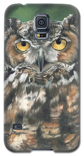 Galaxy S5 Case featuring the painting And You Were Saying by Lori Brackett