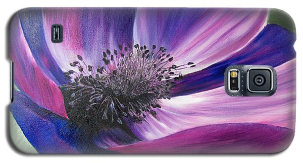 Anemone Coronaria Galaxy S5 Case by Claudia Goodell