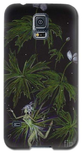 Galaxy S5 Case featuring the drawing Anemone by Dawn Fairies