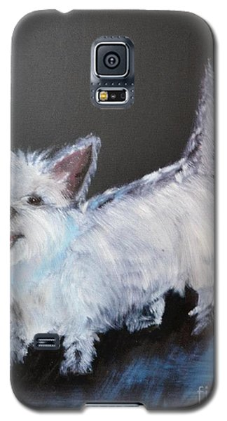 Galaxy S5 Case featuring the painting Angel Baby by Denise Tomasura