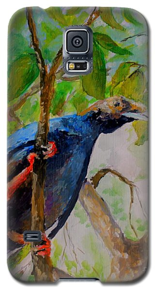 Galaxy S5 Case featuring the painting Angel Bird Of  North Moluccas by Jason Sentuf