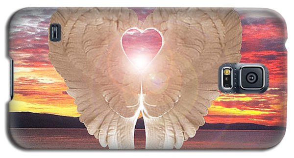 Angel Heart At Sunset Galaxy S5 Case