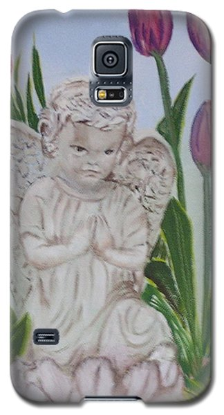 Angel In The Garden Galaxy S5 Case by Sharon Schultz