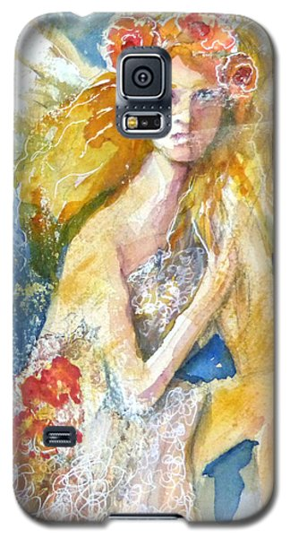 Galaxy S5 Case featuring the painting Angel In Waiting by P Maure Bausch