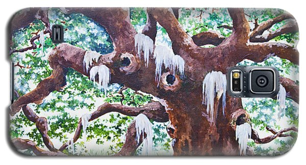 Galaxy S5 Case featuring the painting Angel Oak by Melissa Sherbon