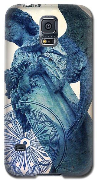 Galaxy S5 Case featuring the digital art Angel Of Peace - Art Nouveau by Absinthe Art By Michelle LeAnn Scott