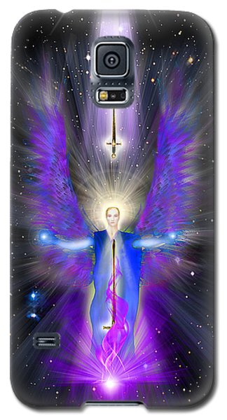 Angel Of The Violet Flame Galaxy S5 Case