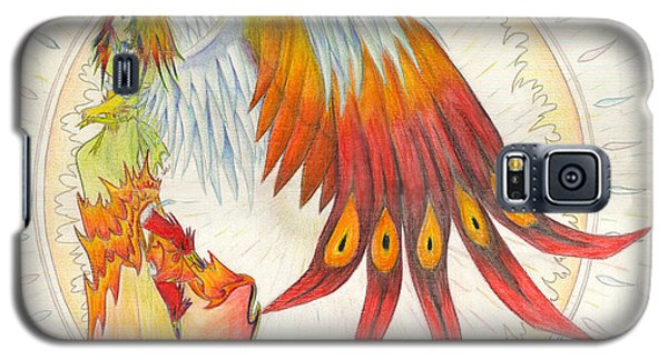 Galaxy S5 Case featuring the painting Angel Phoenix by Shawn Dall