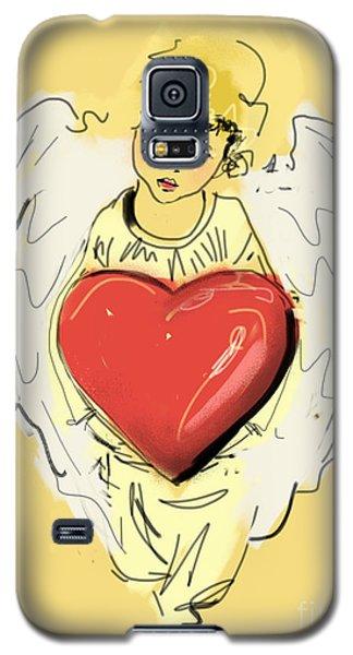 Angel Red Heart Galaxy S5 Case