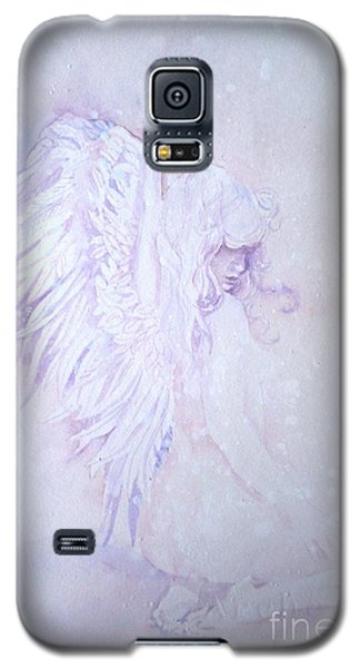 Galaxy S5 Case featuring the painting Angel by Sandra Phryce-Jones