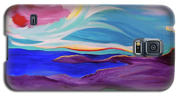 Galaxy S5 Case featuring the painting Angel Sky by First Star Art