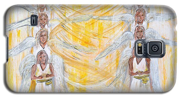 Galaxy S5 Case featuring the painting Angel Winds Flames Of Fire by Cassie Sears