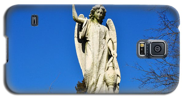 Galaxy S5 Case featuring the photograph Angel With Blue Sky by Diane Lent