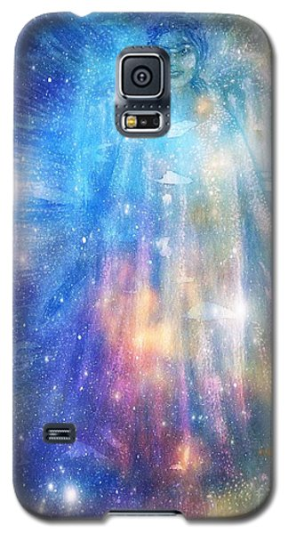 Galaxy S5 Case featuring the painting Angelic Being by Leanne Seymour