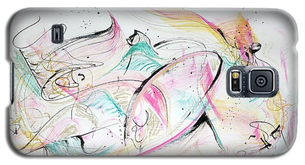 Galaxy S5 Case featuring the painting Angels Arriving by Asha Carolyn Young