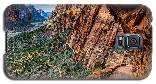 Angels Landing Trail From High Above Zion Canyon Floor Galaxy S5 Case