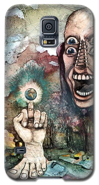 Galaxy S5 Case featuring the painting Anger Of Archon by Mikhail Savchenko