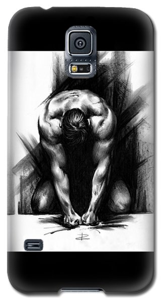 Galaxy S5 Case featuring the drawing Anger by Paul Davenport