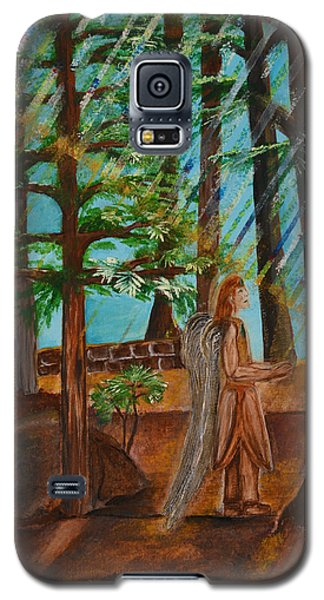 Galaxy S5 Case featuring the painting Angle In Idyllwild by Cassie Sears