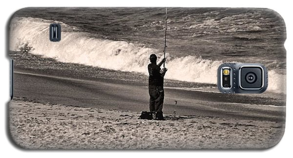 Galaxy S5 Case featuring the photograph Angler by Bob Wall