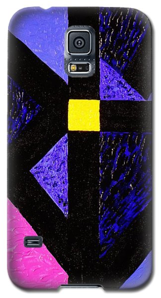 Galaxy S5 Case featuring the painting Angles by Celeste Manning