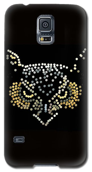 Angry Owl Bedazzled Mobile Galaxy S5 Case by R  Allen Swezey