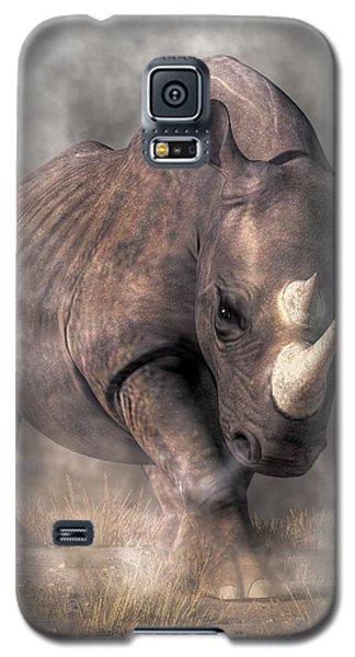 Angry Rhino Galaxy S5 Case by Daniel Eskridge