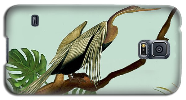 Galaxy S5 Case featuring the painting Anhinga Bird by Anne Beverley-Stamps