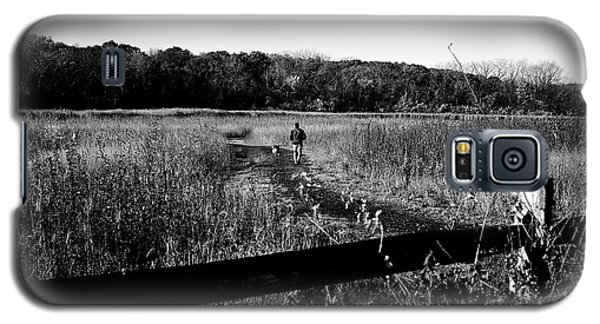 A Man And His Dog Galaxy S5 Case