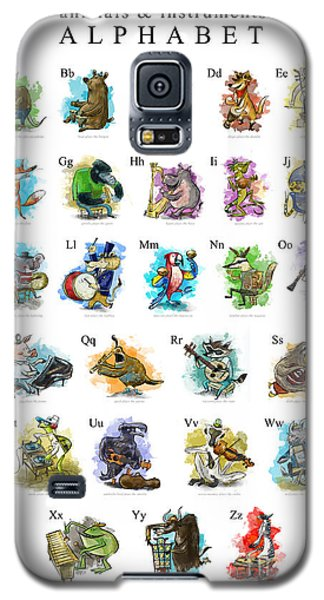 Otter Galaxy S5 Case - Animals And Instruments Alphabet by Sean Hagan