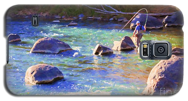 Animas River Fly Fishing Galaxy S5 Case by Janice Rae Pariza