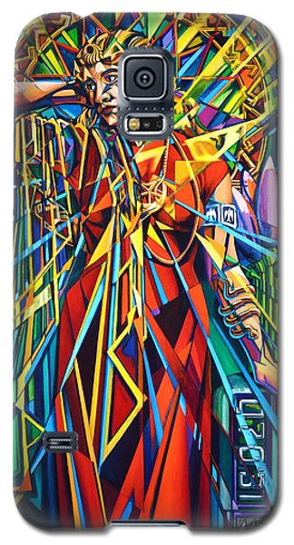 Galaxy S5 Case featuring the painting Annelise2 by Greg Skrtic