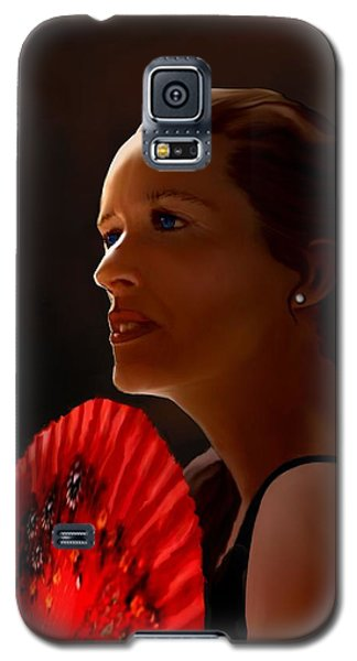 Galaxy S5 Case featuring the painting Annette Of The Night by Jann Paxton