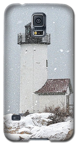 Annisquam Light-snow Storm 1 Galaxy S5 Case
