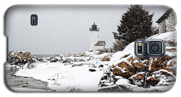 Annisquam Light-snow Storm Galaxy S5 Case