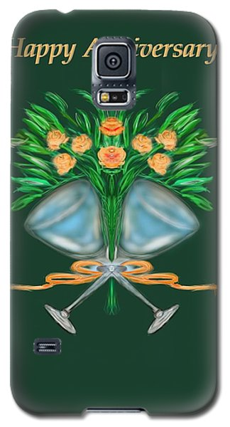 Galaxy S5 Case featuring the digital art Anniversary Bouquet by Christine Fournier