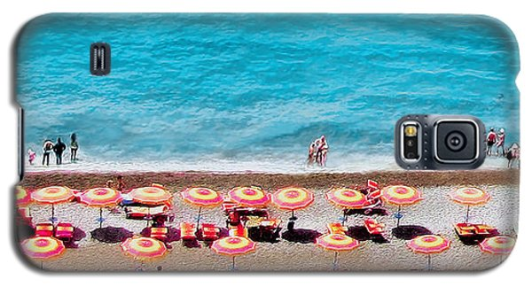 Another Day In Paradise-positano-digitized Galaxy S5 Case by Jennie Breeze