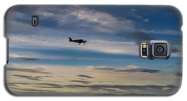 Galaxy S5 Case featuring the photograph Antelope Island - Lone Airplane by Ely Arsha