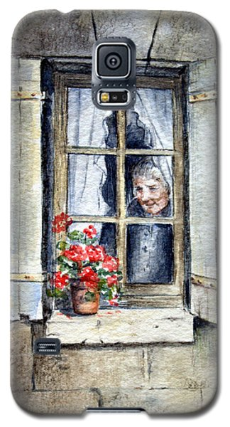 Galaxy S5 Case featuring the painting Anticipation by Rosemary Colyer