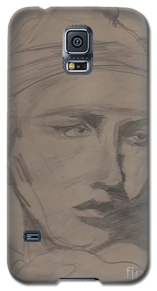 Galaxy S5 Case featuring the drawing Antigone By Jrr by First Star Art
