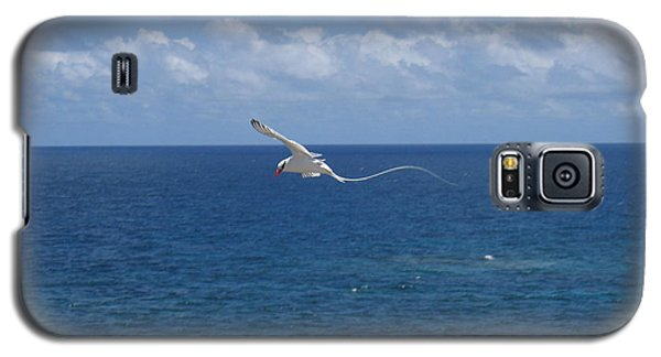 Galaxy S5 Case featuring the photograph Antigua - In Flight by HEVi FineArt