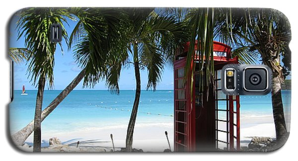 Galaxy S5 Case featuring the photograph Antigua - Phone Booth by HEVi FineArt
