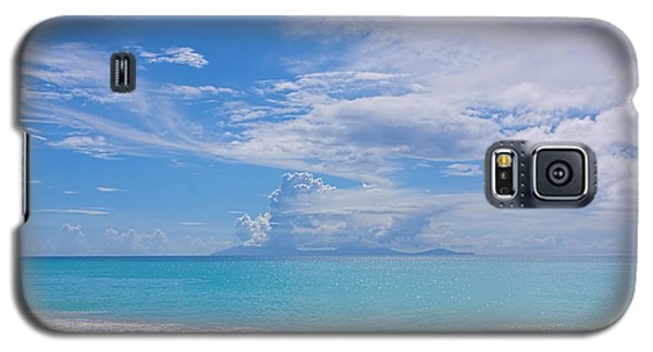 Antigua View Of Montserrat Volcano Galaxy S5 Case by Olga Hamilton