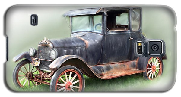 Galaxy S5 Case featuring the painting Antique Car by Bonnie Willis