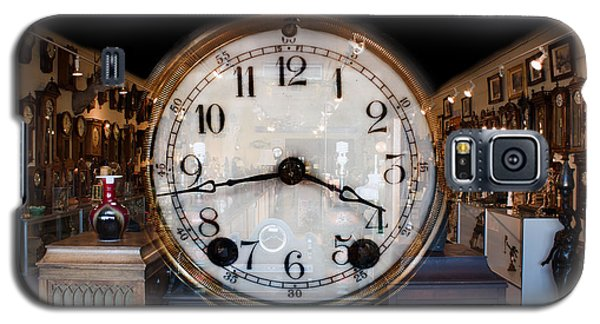 Galaxy S5 Case featuring the photograph Antique Clock Store by Gunter Nezhoda