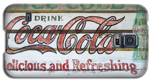 Antique Coca Cola Sign  Galaxy S5 Case by Chris Flees