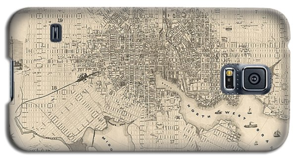 Antique Map Of Baltimore Maryland By Sidney And Neff - 1851 Galaxy S5 Case by Blue Monocle